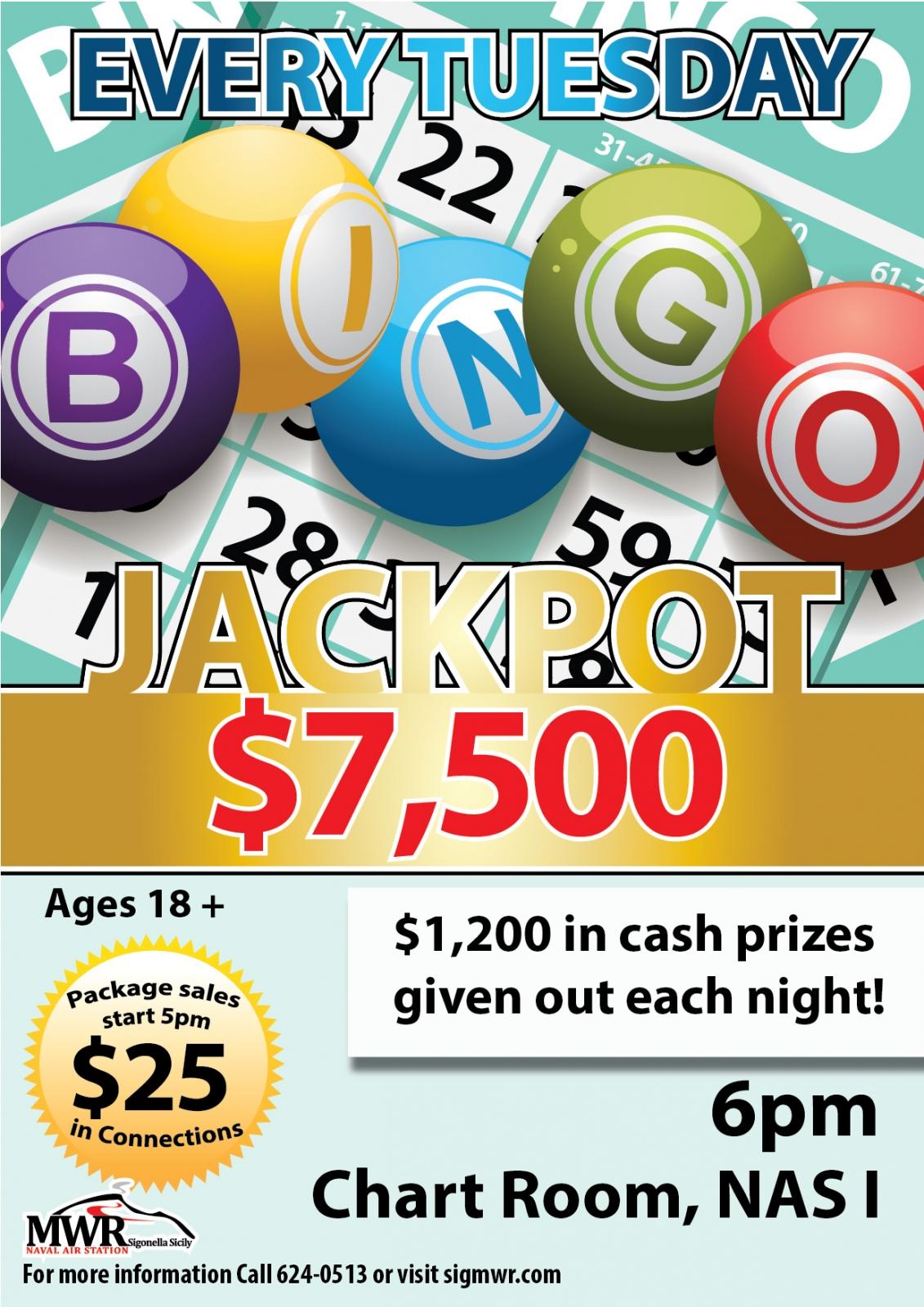 Bingo, spilleautomater, jackpot vindere